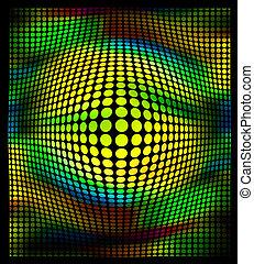 punti, colorare, astratto, sfondo nero, ia