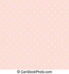 punti, fondo, vettore, rosa, polka