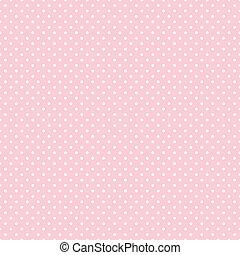 punti, pastello, seamless, rosa, polka