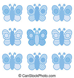 punti, percalle, farfalle, polka