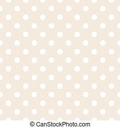 punti, vettore, polka, sfondo beige