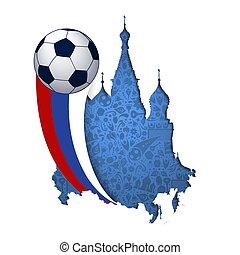 punto di riferimento, cattedrale, disinserimento, calcio, russia