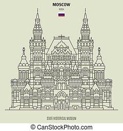 punto di riferimento, museo, russia., stato, icona, storico, mosca