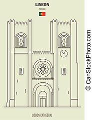 punto di riferimento, portugal., icona, cattedrale, lisbona