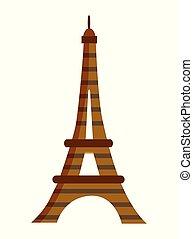 punto di riferimento, torre, eiffel, europeo, paris.