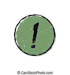 punto esclamativo, icona