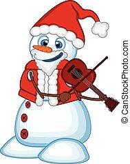 pupazzo di neve, claus, costume, santa