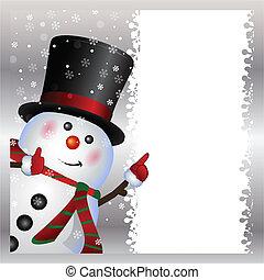 pupazzo di neve, il portare, scheda