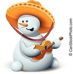 pupazzo di neve, sombrero