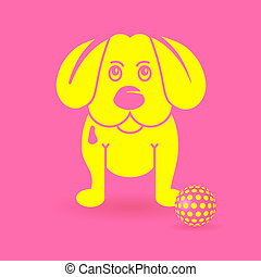 puppy-dog, giallo