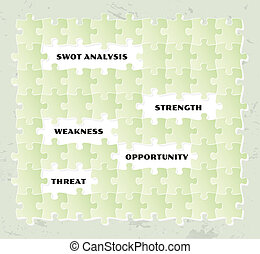 puzzle, analisi, swot