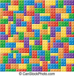 puzzle, bloccaggio, blocco, plastica
