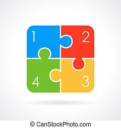 puzzle, grafico, swot