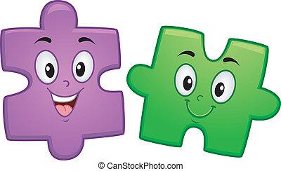 puzzle, mascotte