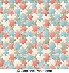 puzzle, seamless, fondo