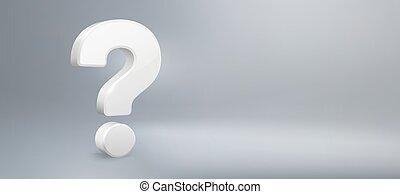 qa., vettore, domande, domanda, realistico, possedere, segno, faq, fondo, mark., domanda, illustrazione, 3d
