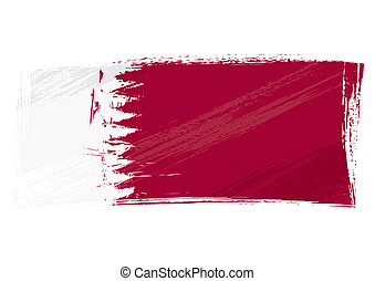 qatar, grunge, bandiera