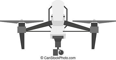 quadcopter, fuco, vettore, isolato