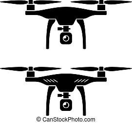 quadcopter, vettore, rc, fuco