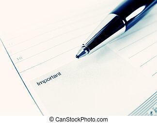 quaderni, concetto, ricordare, note, studio, -, nota, importante, cultura, disegnato