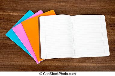 quaderni, mucchio