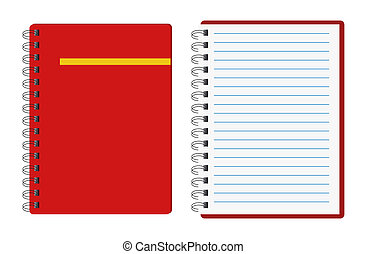 quaderni, rosso