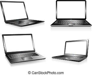 quaderno, calcolatore pc, laptop