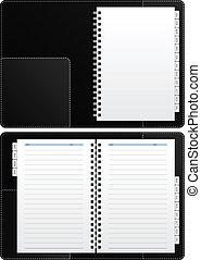 quaderno, diario, vuoto