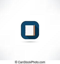 quaderno, icona