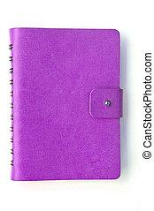 quaderno, isolato, bianco