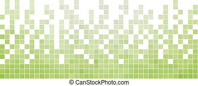 quadrato, astratto, vettore, fondo, pixel, mosaico