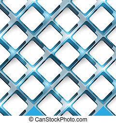 quadrato blu, colorito, astratto, vettore, cerchio