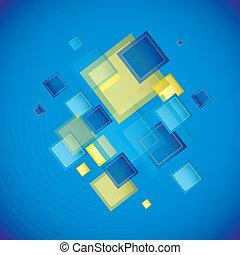 quadrato blu