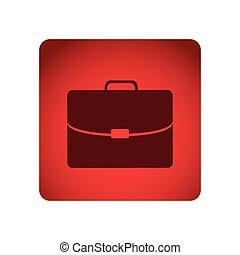 quadrato, cartella, cornice, esecutivo, rosso, icona