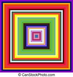 quadrato, colorito, astratto, fondo., decrescente, cornici, formato