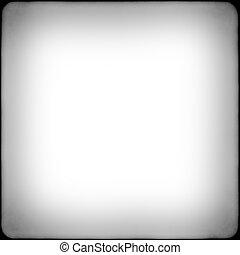 quadrato, cornice, nero, bianco, vignetting, film