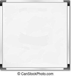 quadrato, eps10, whiteboard, illustrazione, fondo, vettore, bianco
