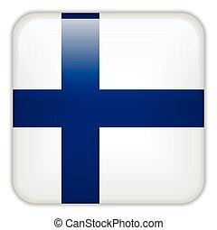 quadrato, finlandia, bottoni, domanda, bandiera, smartphone