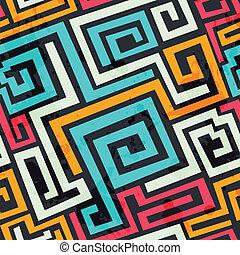 quadrato, grunge, colorato, modello, effetto, spirale