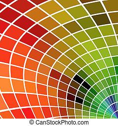 quadrato, no, effects., fondo., multicolor, gradients, o, mosaico