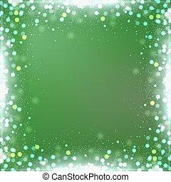 quadrato, pendenza, bokeh, sfondo verde, bordo
