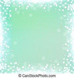 quadrato, pendenza, menta, bokeh, sfondo verde, bordo