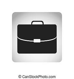 quadrato, silhouette, cartella, cornice, esecutivo, monocromatico, icona