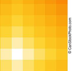 quadrato, tonalità, sfondo giallo