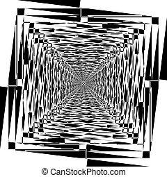 quadrato, triangolo, arte, satelite, astratto, taglio, deco, struttura, cornice, arabesco, ispirare, gioco, illustrazione, illusione