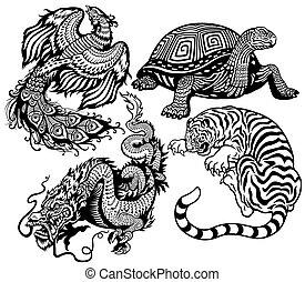 quattro animali, celestiale