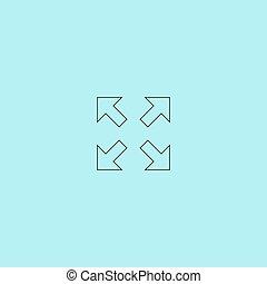 quattro, indicazione, frecce, icona