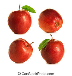 quattro, mele, rosso
