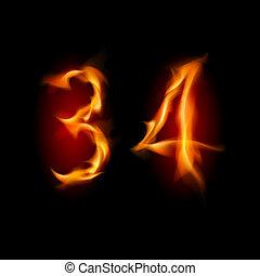 quattro, numeri, tre