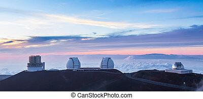 quattro, osservatori, sunse, hawai